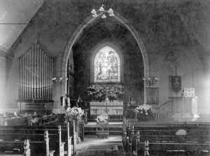 Trinity's sanctuary, as it appeared in the late 1800s.