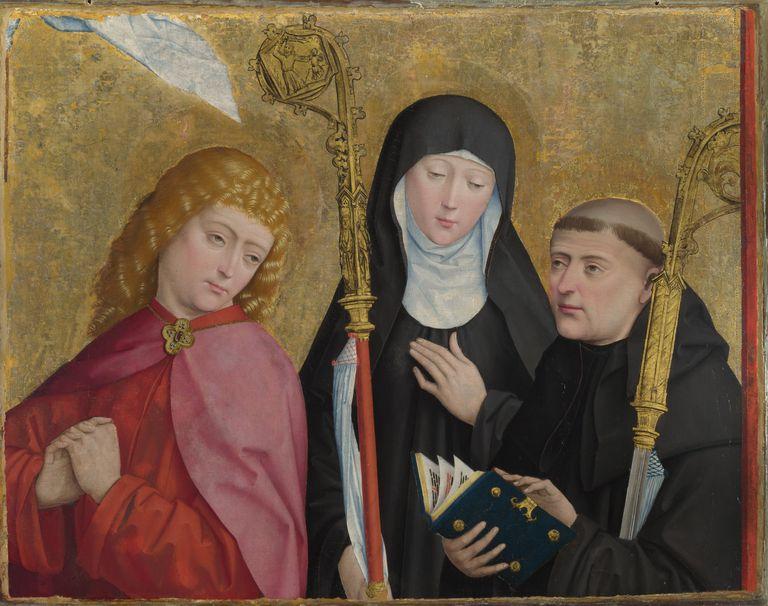 Scholastica Benedict and John the Evangelist