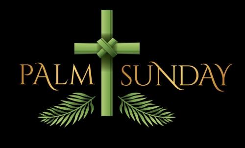 Christian Palm Sunday Cross Theme Illustration