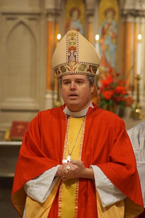 Bishop Sean in red