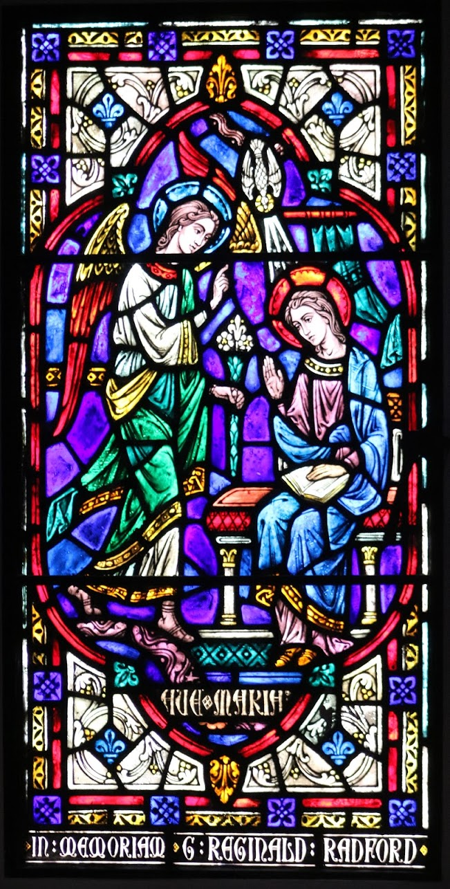 annunciation - stained glass from chapel