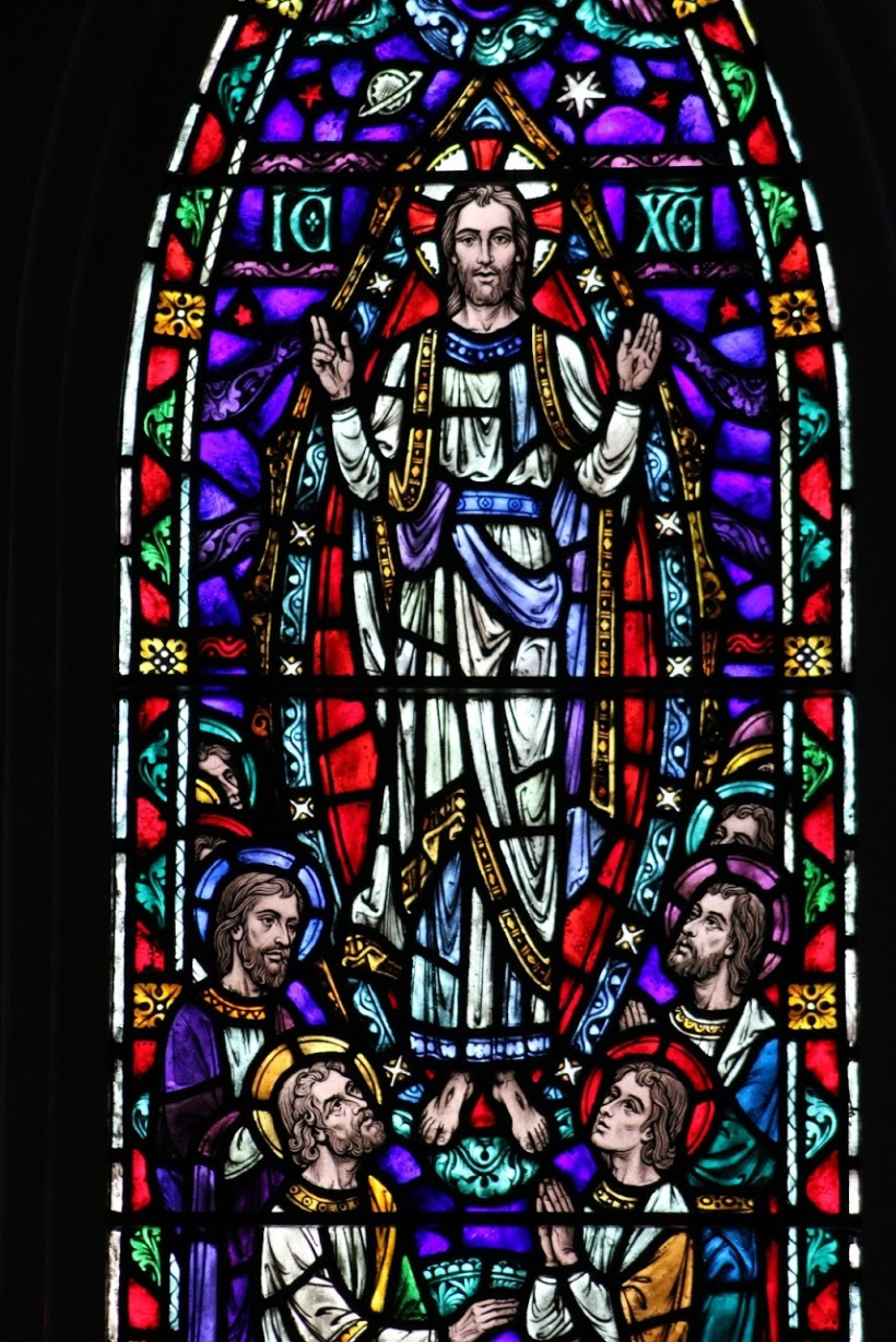 ascension - stained glass from chapel