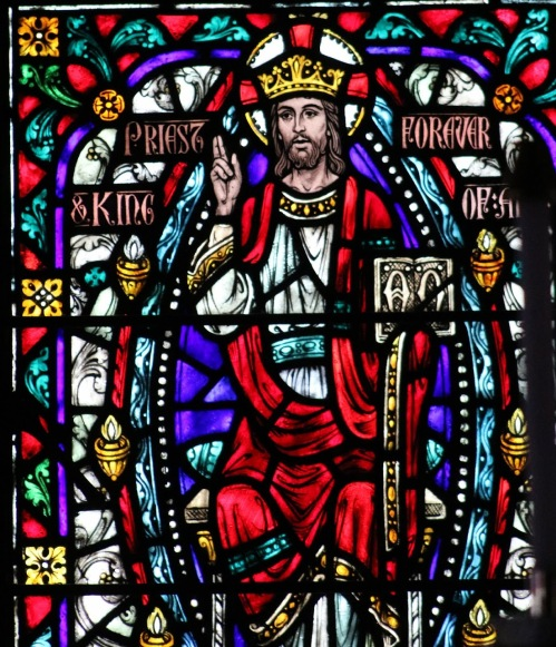 christ the king - stained glass from chapel