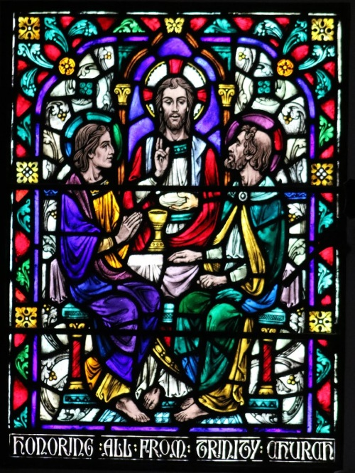 emmaus -stained glass from chapel