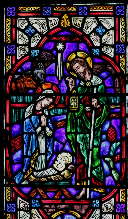 nativity - stained glass from chapel