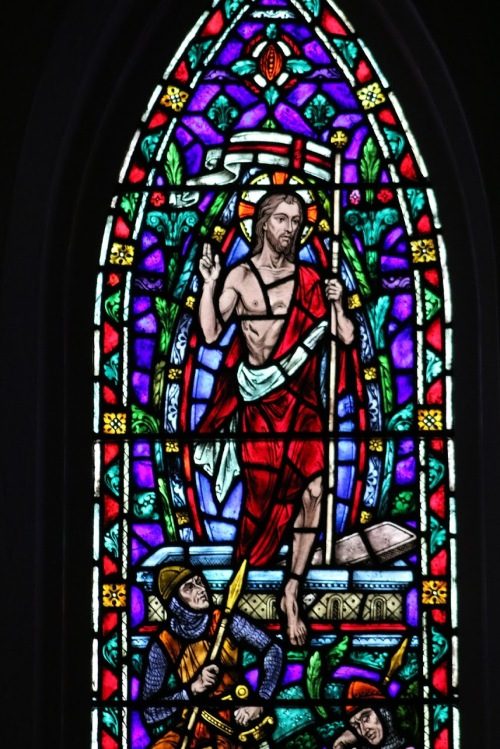resurrection - stained glass from chapel